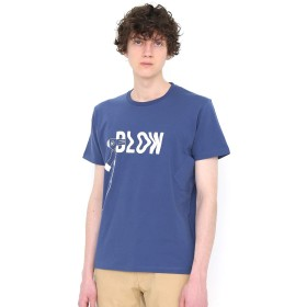 (グラニフ) graniph 胸ポケット付き Tシャツ (ブローイングタイポ) (ブルー) メンズ レディース S (g01) (g14)
