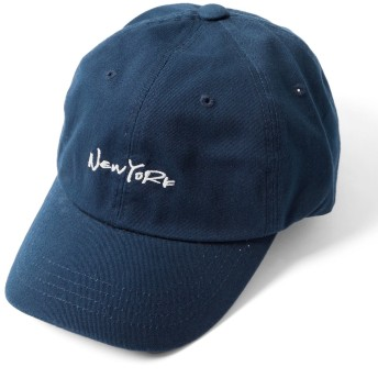 (エムエイチエー) M.H.A.style New York刺繍ローキャップ 帽子 ロゴ ユニセックス 男女兼用 21271 D.ネイビー