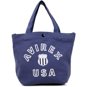 [AVIREX(アヴィレックス)] ショルダートート ショルダーバッグ トートバッグ 2WAY バーシティー AX2000 ネイビー