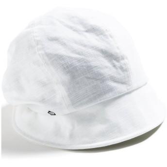 クイーンヘッド UVカット 3サイズダウンハット 帽子 レディース 大きいサイズ つば広 ハット 小顔効果 UV 紫外線カット【XL58.5-61cm-オフホワイト】