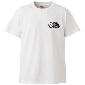 (ザ・ポーク・フェイス)THE PORK FACE 5.6oz(オンス)半袖Tシャツ XXXL ホワイト ロゴ小