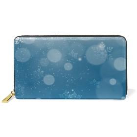 【Anmumi】 財布 長財布 バッグ シカ 雪柄 本革 お金 札 カード ガールズ 学生 持ちやすい ギフと プレゼント 二つ折り
