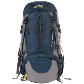 登山リュック リュックサック バックパック ナイロン 大容量 45L 防水 多機能 収納性抜群 防水カバー付属 クライミング 旅行 アウトドア 男女兼用 (紺)