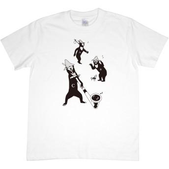 [ショコレイル] Tシャツ 山マレーグマ レディース 2Color (L, ホワイト)