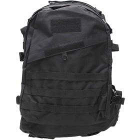 リュックサック 3D 大容量 防水 耐久 戦術的 バッグ 男女兼用 大容量 多機能アウトドア 登山バッグ トレッキング ハイキング バックパック 迷彩バッグ40L (ブラック)