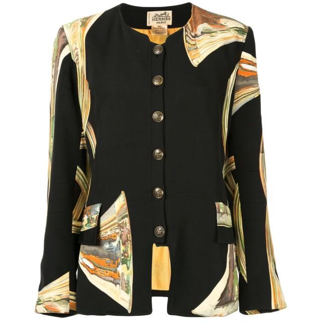 Hermès Pre-Owned ノーカラージャケット - ブラック