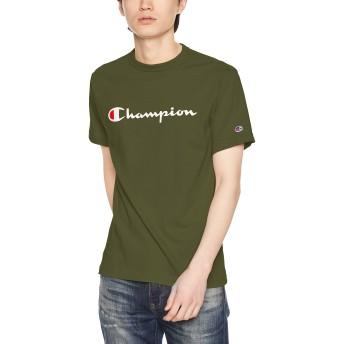 [チャンピオン] スクリプトロゴTシャツ ベーシック C3-P302 メンズ ダークグリーン 日本 S (日本サイズS相当)