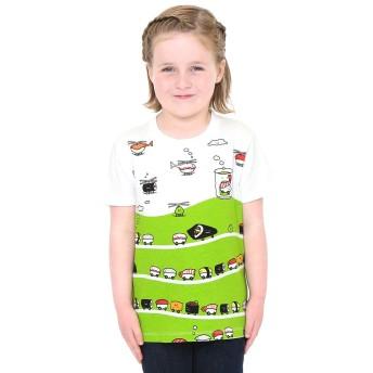 (グラニフ) graniph キッズ Tシャツ (スシ トレイン & スシ コプター) (ホワイト) キッズ 90 (g28) #おそろいコーデ