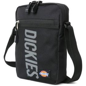 [ディッキーズ] ショルダーバッグ ポーチ サコッシュ 縦型 ブラック=本体:ブラック/ロゴ:ホワイト 縦22cm/横16cm/マチ5cm