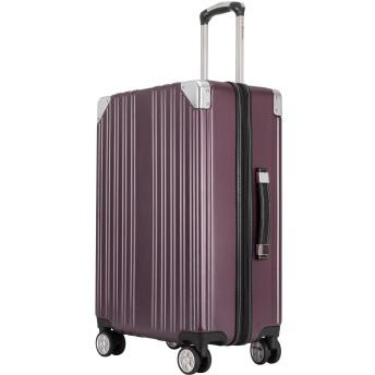 クロース(Kroeus) スーツケース ファスナータイプ 大型キャスター 8輪 キャリーケース 大容量 軽量 TSAロック ソフトなハンドル 取扱説明書付 S ワインレッド