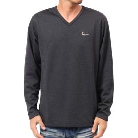 [カールカナイ] Karl Kani Tシャツ 長袖 JAPAN ウォーム キャッチ Vネック ロンT 183K1114 ブラック XXL