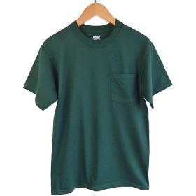 (ヘインズ) HANES BEEFY TEE POCKET ヘインズ メンズ ポケットTシャツ 5190p ビーフィー [並行輸入品] (S, フォレスト)