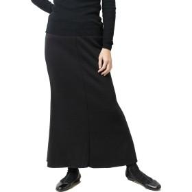 パネットワンpane(t)one スカート 極上の裏起毛スウェットマキシスカート マーメイドタイプ レディース 後ろスピンドル ブラック