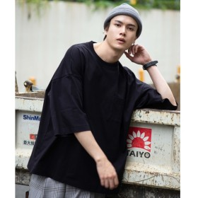 [マルイ]【セール】ステッチポケットビッグ5分袖Tシャツ/ウィゴー(メンズ)(WEGO)