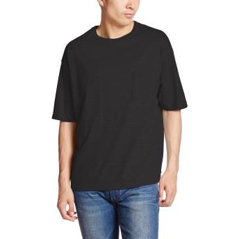 (ユナイテッドアスレ)UnitedAthle 5.6オンス ビッグシルエット Tシャツ(ポケット付) 500801 002 ブラック M