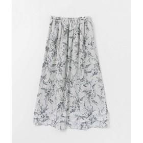 [アーバンリサーチ ドアーズ] スカート シフォンドットフラワープリントスカート レディース WHITE one