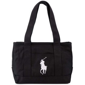 [ポロ ラルフローレン]POLO Ralph Lauren RAS10155A Medium Tote BLACK WHITE [並行輸入品]