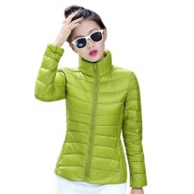 EASONDDD 全13色 レディース ダウンジャケット 軽量 ウルトラダウン コート ジャケット ライトコート カジュアル ショート丈 アウター 冬 防寒 防風 暖かい 大きいサイズ 便利な収納袋付き