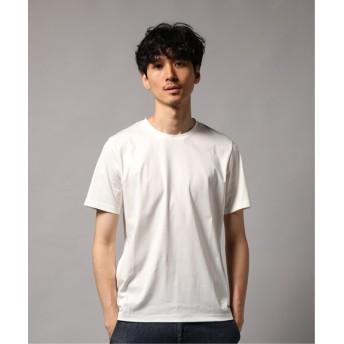EDIFICE 160/2 シルケットスムース クルーネック Tシャツ ホワイト 48
