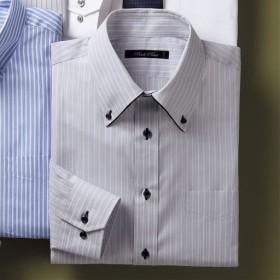 【メンズ】 形態安定デザインYシャツ(ゆったりシルエット) ■カラー:グレー系 ■サイズ:43(裄丈84),39(裄丈78),41(裄丈80)