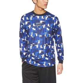 [コンバース] バスケットボールウェア 昇華プリントロングTシャツ (裾ラウンド) CBE282323L [メンズ] ネイビー 日本 L (日本サイズL相当)