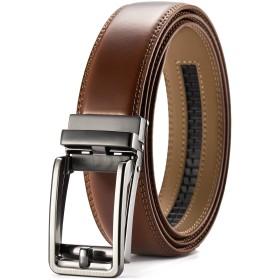CHAOREN【正規品】ベルト メンズ ビジネス おおきいサイズ、クリックベルト、オートロック式バックル採用で穴なし紳士ベルト、無段階調節、高級感、コンフォート、無調整人気スーツベルト、長さ115cm〜150cmおしゃれなのプレゼント