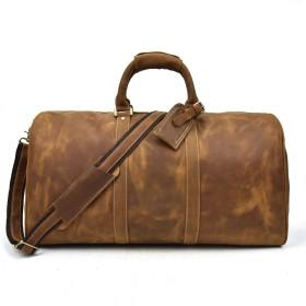 ボストンバッグ 本革 メンズ トラベルバッグ レザー 2way 手提げバッグ ショルダーバッグ 牛革 ゴルフバッグ 大容量 旅行バッグ 帰省鞄 60cm