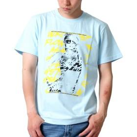 (アスナディスペック)ASNADISPEC tシャツ メンズ 大きいサイズ ティシャツ 半袖Tシャツ フォト タギング 柄 ブランド ロゴ プリント ASDSP as-rem-5114r M L,BLUE