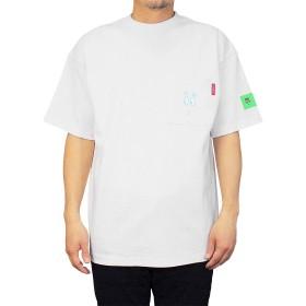 [Goodwear] グッドウェア Tシャツ FACEポケット BARBAPAPA コラボ メンズ レディース (Medium, ホワイト)
