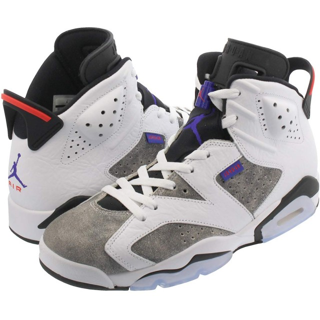 [ナイキ] AIR JORDAN 6 RETRO WHITE/BLACK/INFRARED 23/DARK CONCORD 【FLIGHT NOSTALGIA】 US9.5-27.5cm [並行輸入品]