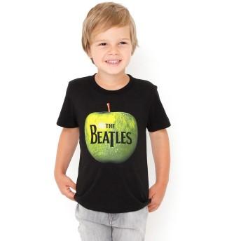 (グラニフ) graniph コラボレーション キッズ Tシャツ グリーンアップル (ザ ビートルズ) (ブラック) キッズ 90 (g28) #おそろいコーデ #▲