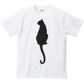 エムワイディエス(MYDS) 猫シルエット(後ろ姿)/半袖Tシャツ/白/XLサイズ