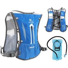 JSDDE ハイドレーションパック バックパック ランニングバックパック サイクリングリュック マラソン ナーランニング ハイドレーション ベスト 給水袋 水分補給 ハイキング 軽量 スポーツ アウトドア 自転車 7L (ブルー(給水袋含める))