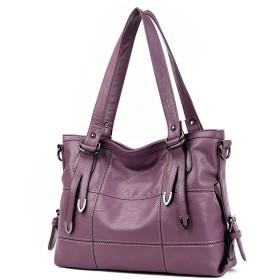 DOODOO レディース 斜めかけバッグ ポシェット ハンド PUレザー ショルダー 肩掛け ミニ トート Shoulder Hand Bag for Women いも紫色 [並行輸入品]