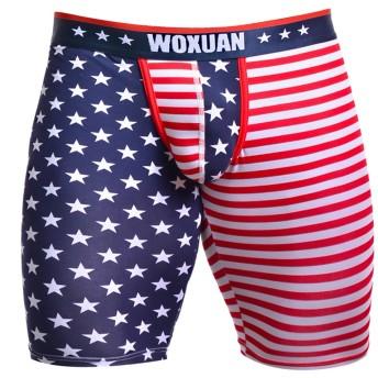 【ノーブランド品】 メンズ アメリカ 国旗柄 下着 ボクサー ブリーフ パンツ ショーツ 4サイズ選べる - L