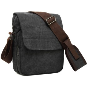 クロース(Kroeus)ショルダーバッグ メンズ 大容量 斜め掛け キャンバスバッグ 丈夫 B5サイズ対応 通勤 旅行用 iPad収納可能