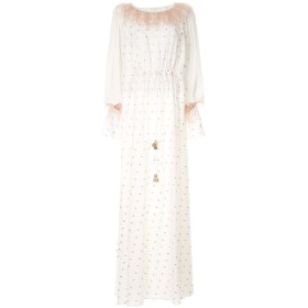 Costarellos エンブロイダリー イブニングドレス - ホワイト