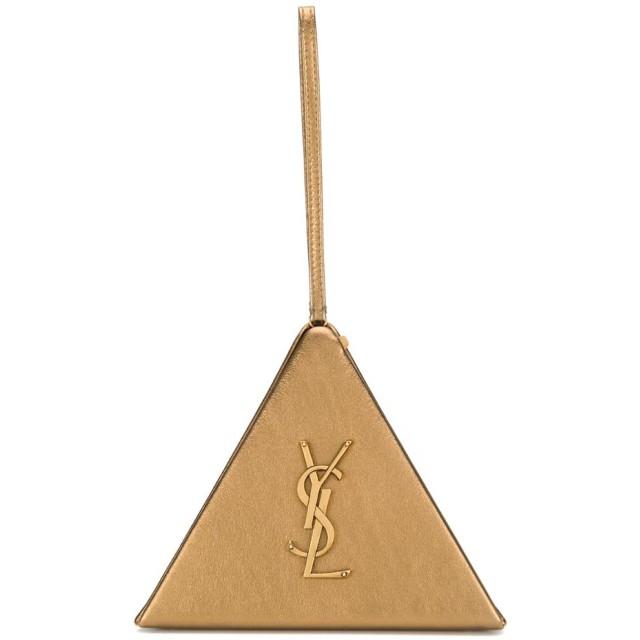 Saint Laurent ピラミッド クラッチバッグ - ゴールド