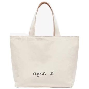 agnes b. VOYAGE アニエスベー ボヤージュ コットントートバッグ キャンパスバッグ レディース メンズ バッグ (アイボリー)
