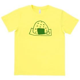 おもしろ Tシャツ おにぎり2 ライトイエロー MLサイズ (L)