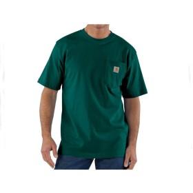 カーハート CARHARTT ビッグサイズ 対応 6.75オンスのコットンジャージー素材を使用した厚手でしっかりした生地感 タフな Tシャツ メンズ K87-HTG ポケット グリーン 2XL