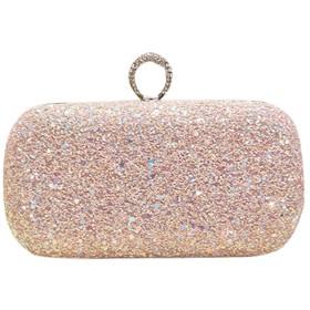 DRASAWEE(JP)クラッチバッグ レディース 指輪 パーティバッグ フォーマル ファッション ハンドバッグ チェーン付 イブニングバッグ ピンク