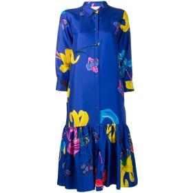 La Doublej プリント シャツドレス - ブルー