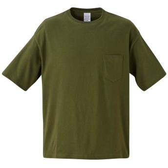 [エムエイチエー] M.H.A.style 5.6オンス ビックシルエット Tシャツ(ポケット付) 無地 カジュアル 10046 E.シティグリーン