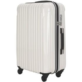 strike(ストライク)アウトレット 超軽量 2年保証 スーツケース TSAロック搭載 旅行バック トランクケース 旅行カバン (小型アウトレット, ホワイト))