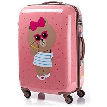 LINE FRIENDS ライン フレンズキャラクター スーツケース Samsonite ブラウン スーツケース TSAロック SUITCASE PINK 65/24(海外直送品)