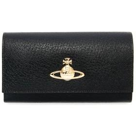 ヴィヴィアンウエストウッド 長財布 本革 ステアレザー 牛革 Vivienne Westwood EXECUTIVE ブラック エグゼクティブ 二つ折り がま口  オーブ ブランド 財布