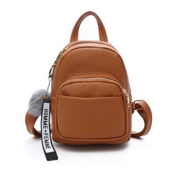 SURCHAR リュック レディース おしゃれ 大人 リュック 可愛い ミニリュック シンプル ミニ バッグ ファッション 4色 ブラウン