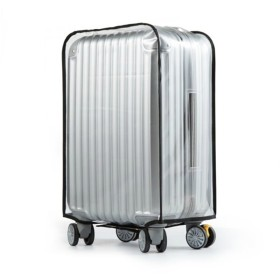 Youth Union スーツケースカバー レイン カバー 防水 傷 汚れ 雨 保護 旅行 出張 クリア 透明 キャリーバッグ お荷物カバー (Type A, 22 Luggage)