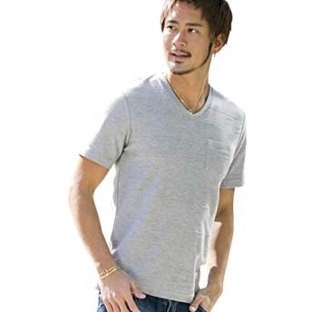 (エーエスエム) A.S.M メンズ Tシャツ 半袖 ジャガードタックボーダーTシャツ 02-66-9402 50(L) Mグレー(12)